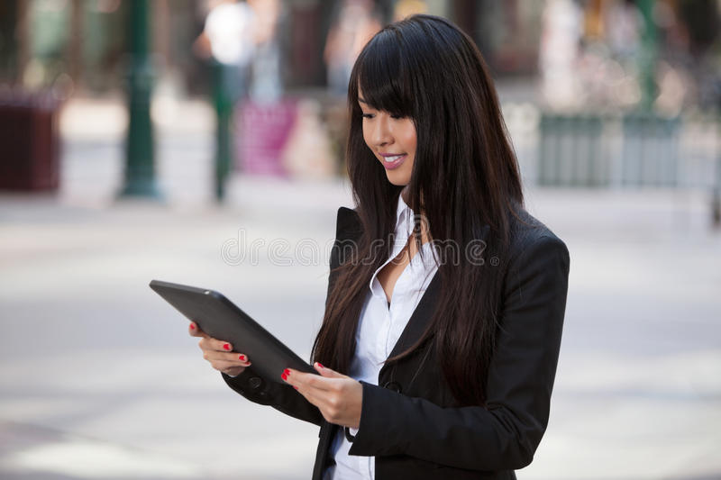 Download Businesswoman Using Tablet Pc Stock Photo - Image of person, formal: 21944452