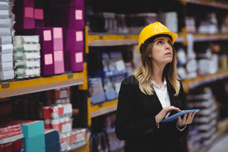 Businesswoman using tablet stock images