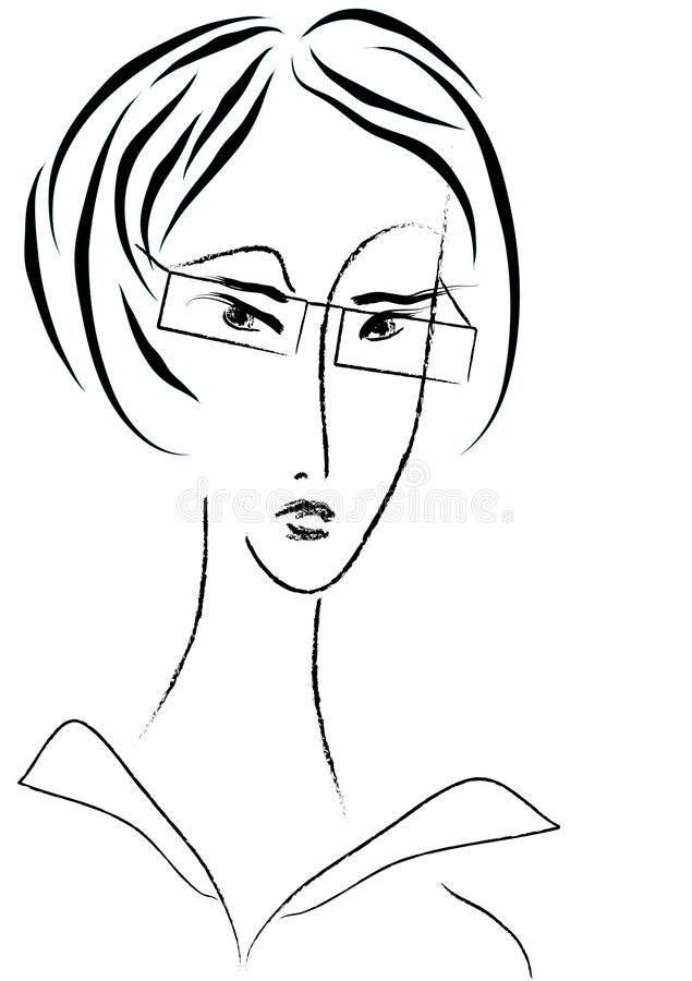 Businesswoman Vector Portrait Royalty Free Stock Images