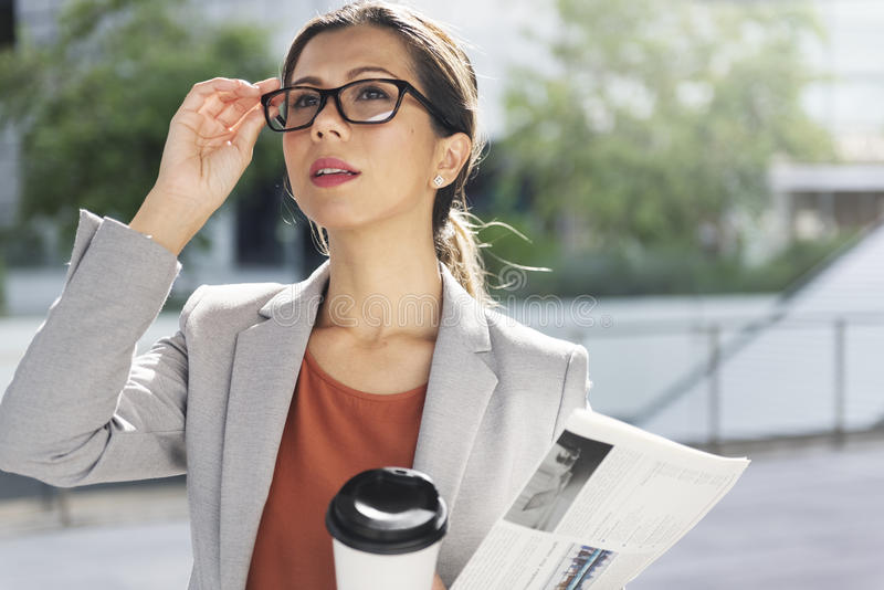 Businesswoman Vision Strategy the Way Forward Concept stock photos