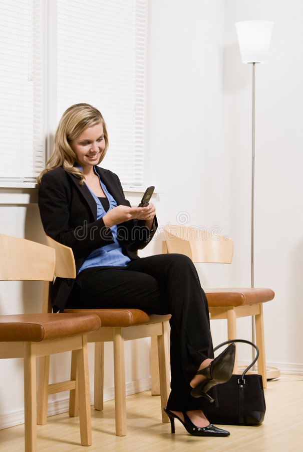 Download Businesswoman Waiting For Appointment Stock Photo - Image: 6582082