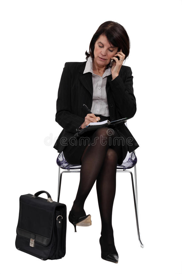 Download Businesswoman In The Waiting Room Stock Photo - Image: 26703872