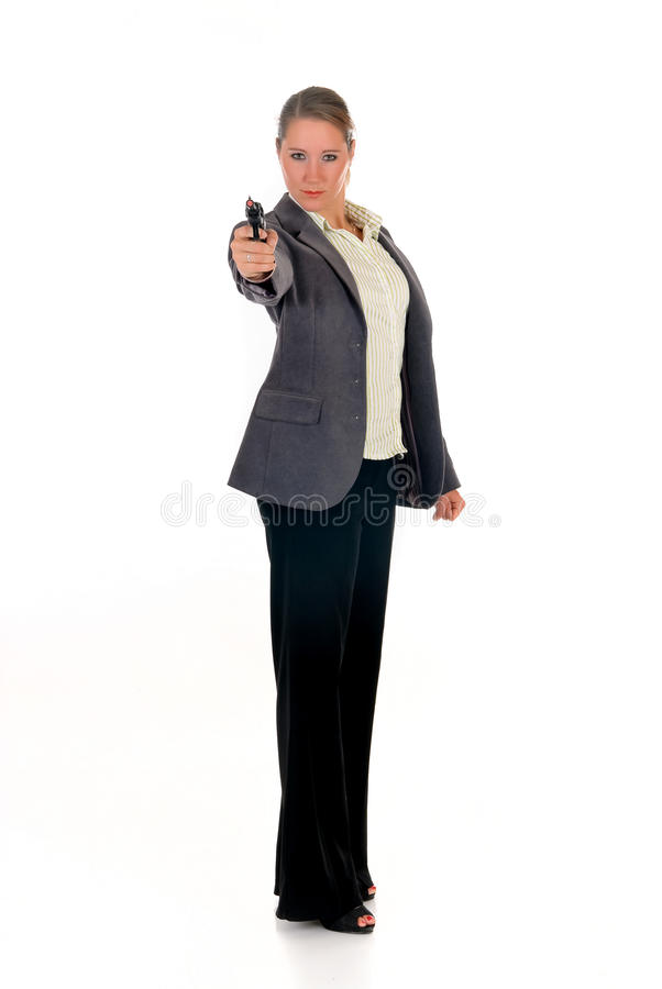 Download Businesswoman With Weapon, Gun Stock Photos - Image: 11656883