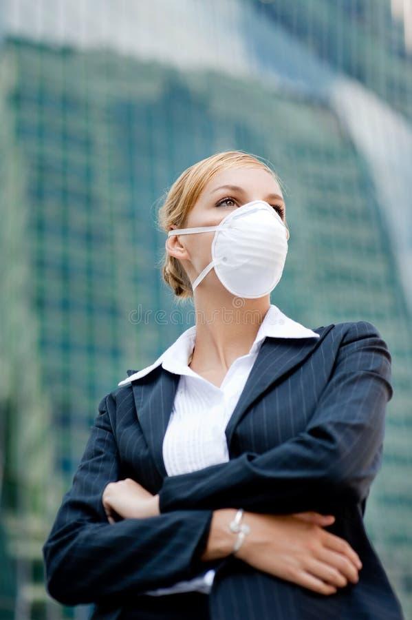 Businesswoman Wearing Mask