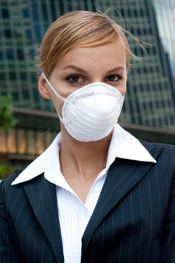 Download Businesswoman Wearing Mask stock photo. Image of cold - 11520886