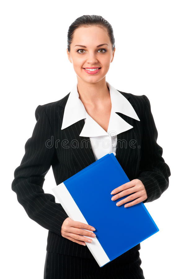Businesswoman on white royalty free stock image