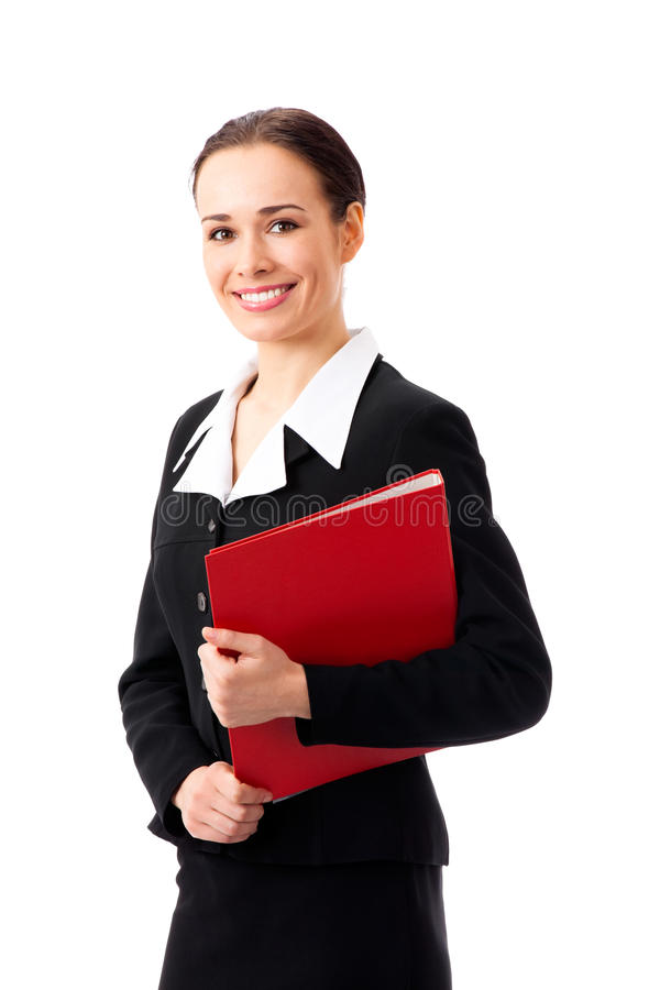 Businesswoman, on white stock images