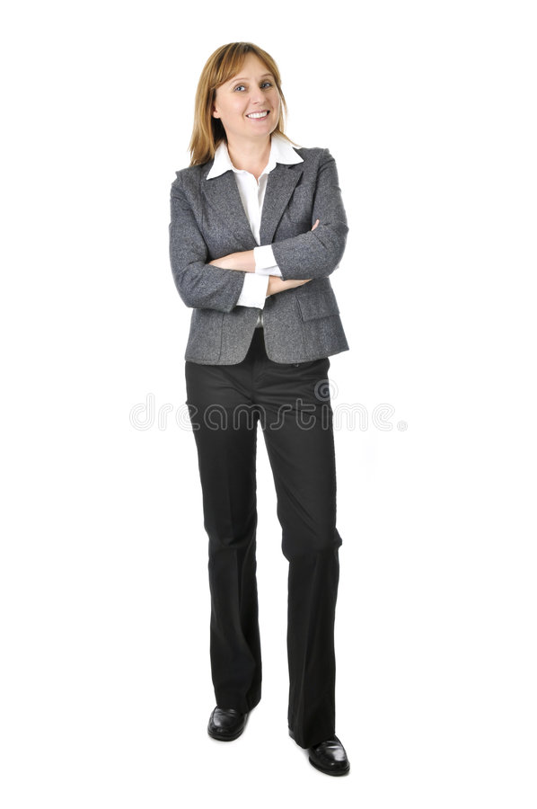 Businesswoman on white background royalty free stock photography