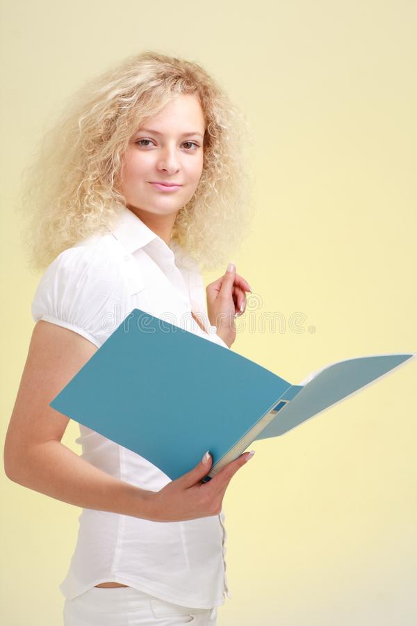 Free Businesswoman With File Royalty Free Stock Photos - 9604648