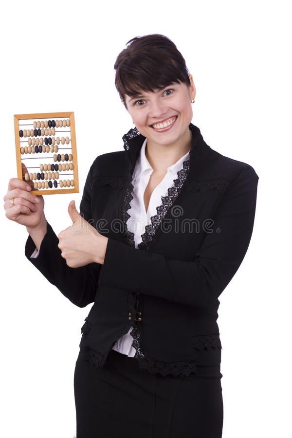 Free Businesswoman With Wooden Abacus. Stock Image - 11591551