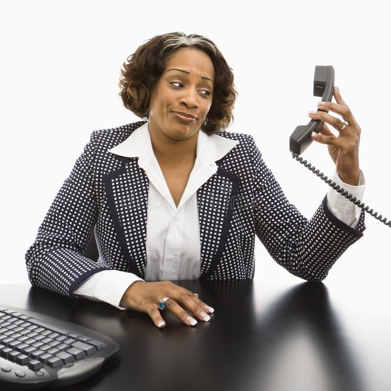 businesswoman wkurzające zdjęcie stock