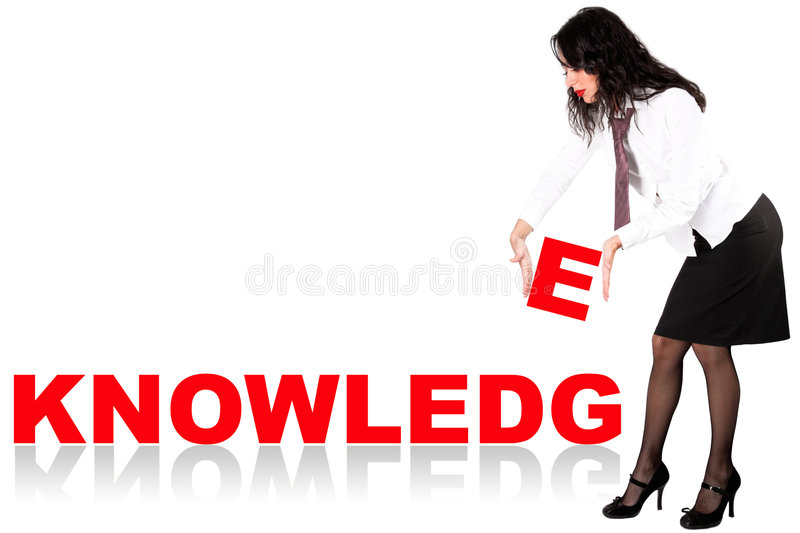 Download Businesswoman with word stock photo. Image of horizontal - 9257168