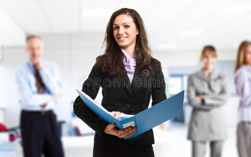 Download Businesswoman at work stock image. Image of business - 29018607