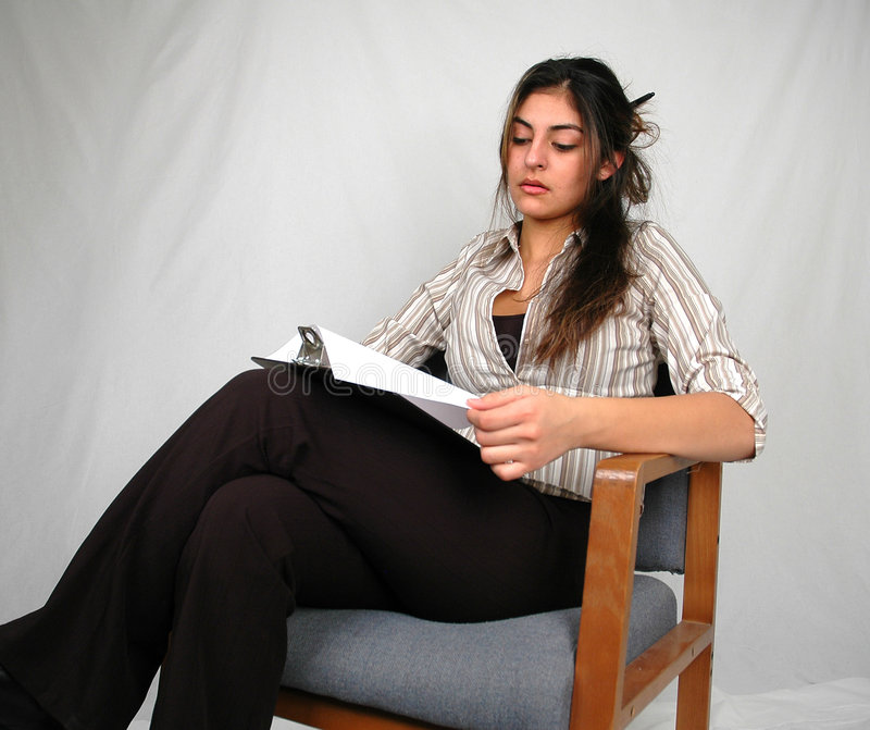 Businesswoman working-2 stock photography