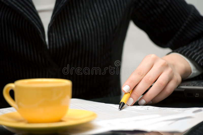 Financial accounting business woman working royalty free stock photo