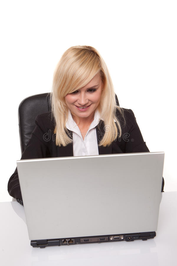 Download Businesswoman Working On Her Laptop Stock Image - Image of office, beautiful: 24544007