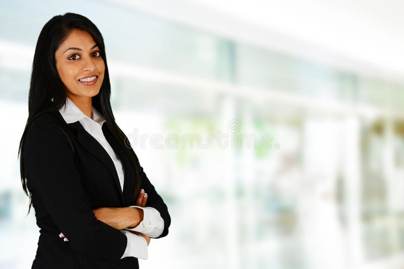 Businesswoman. Working at her office by herself royalty free stock photos