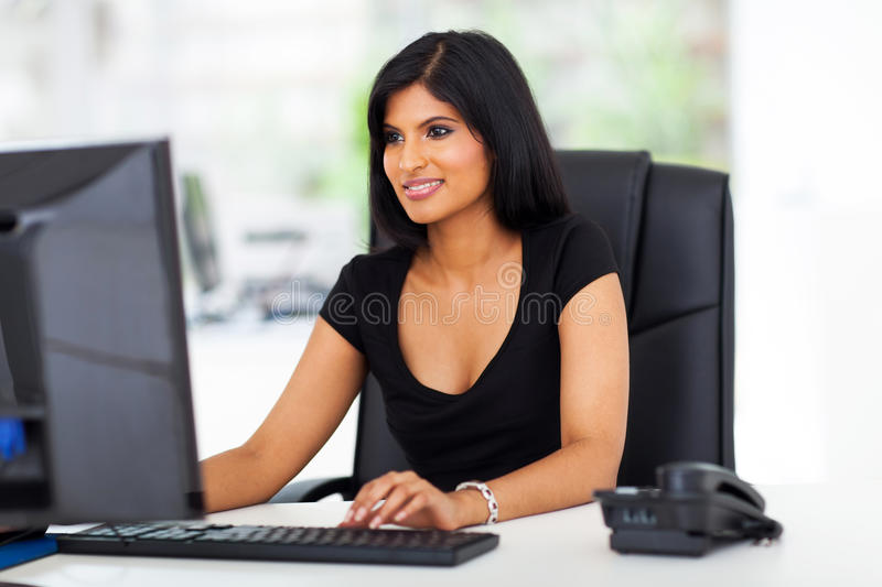 Businesswoman working office royalty free stock image
