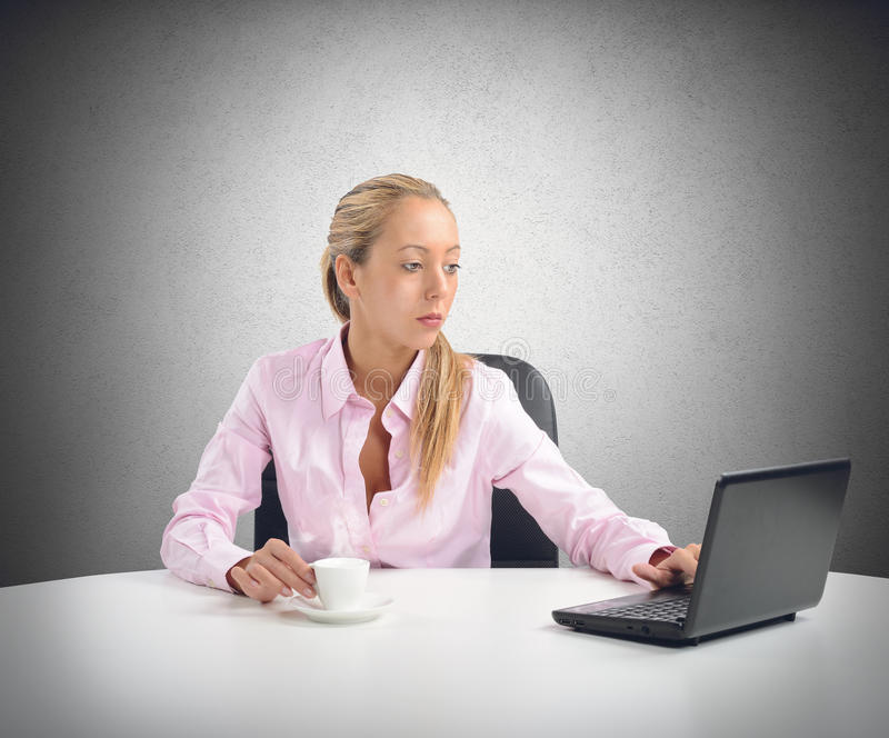 Businesswoman working and relax royalty free stock image