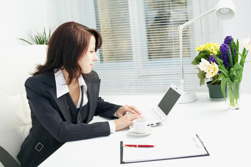 Businesswoman in the workplace stock photo