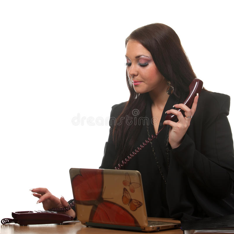 Download Businesswoman On The Workspace Stock Photo - Image: 17436326