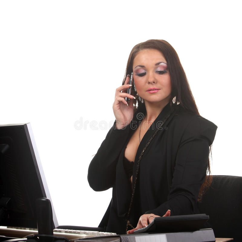 Businesswoman On The Workspace Royalty Free Stock Image
