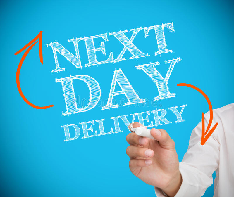 Download Businesswoman Writing Next Day Delivery Stock Image - Image of arrows, young: 31099549