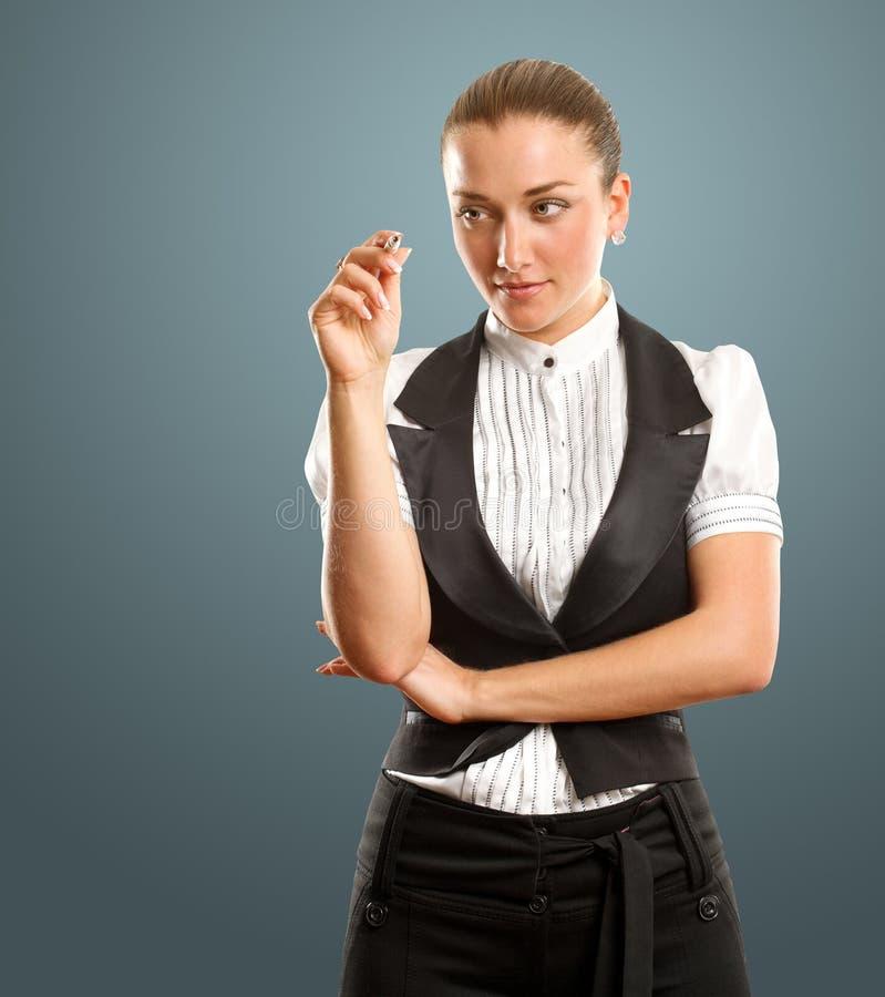 Download Businesswoman Writing Something Stock Photo - Image: 22018160