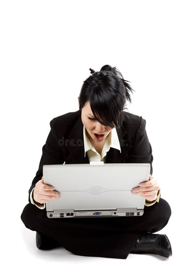 businesswoman zdziwieni obrazy stock