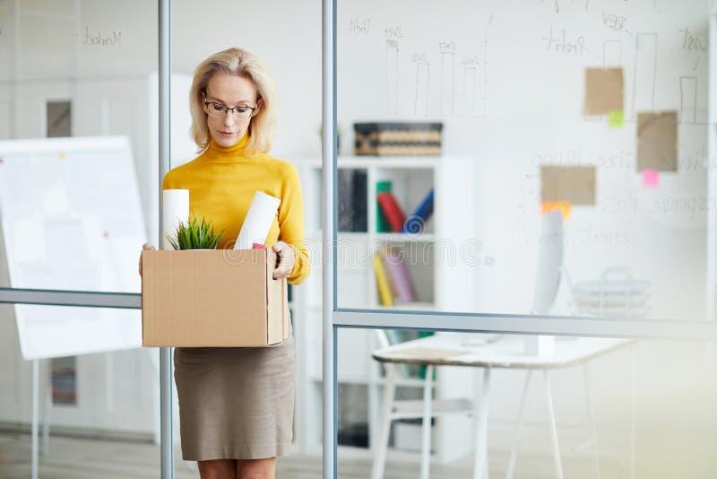 BusinesswomanQuitting Job royalty free stock photo