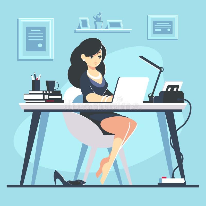 Businesswomanwoman, lavoro e lavoro, giovane, piani fotografia stock