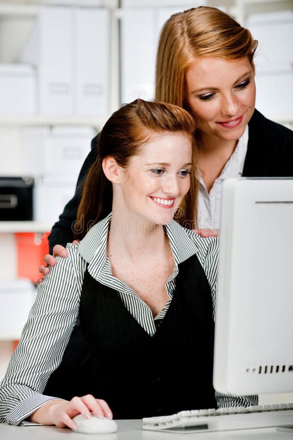 Businesswomen with Computer stock image