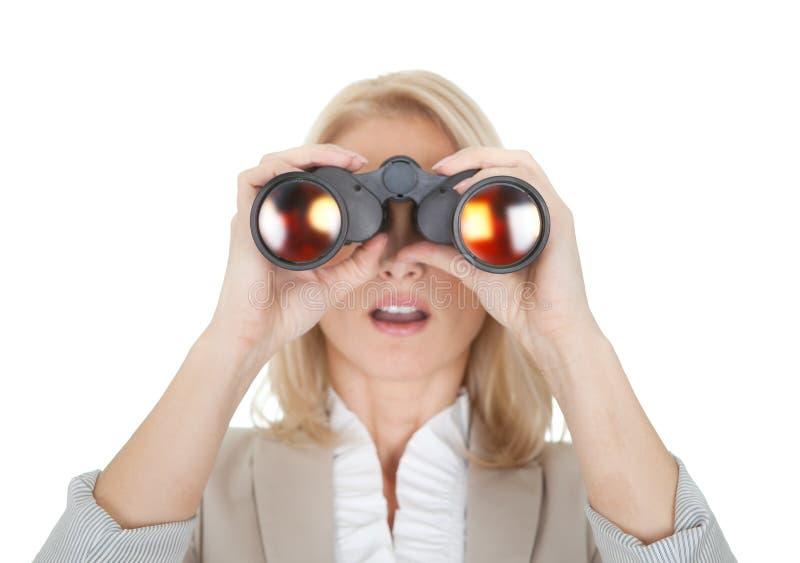 Download Businesswomen Looking Through Binoculars Stock Image - Image: 23081403