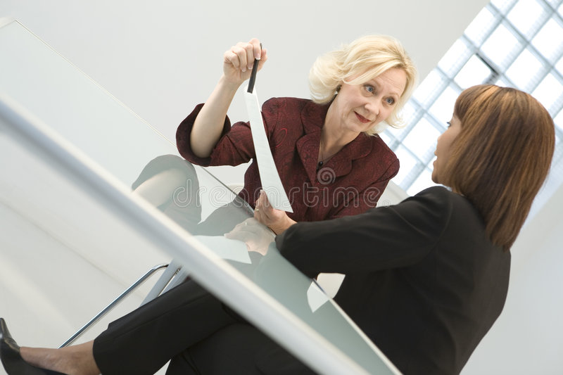 Businesswomen in Meeting stock images