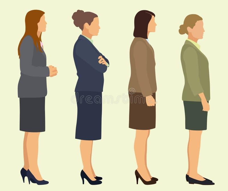 Businesswomen Profile stock illustration