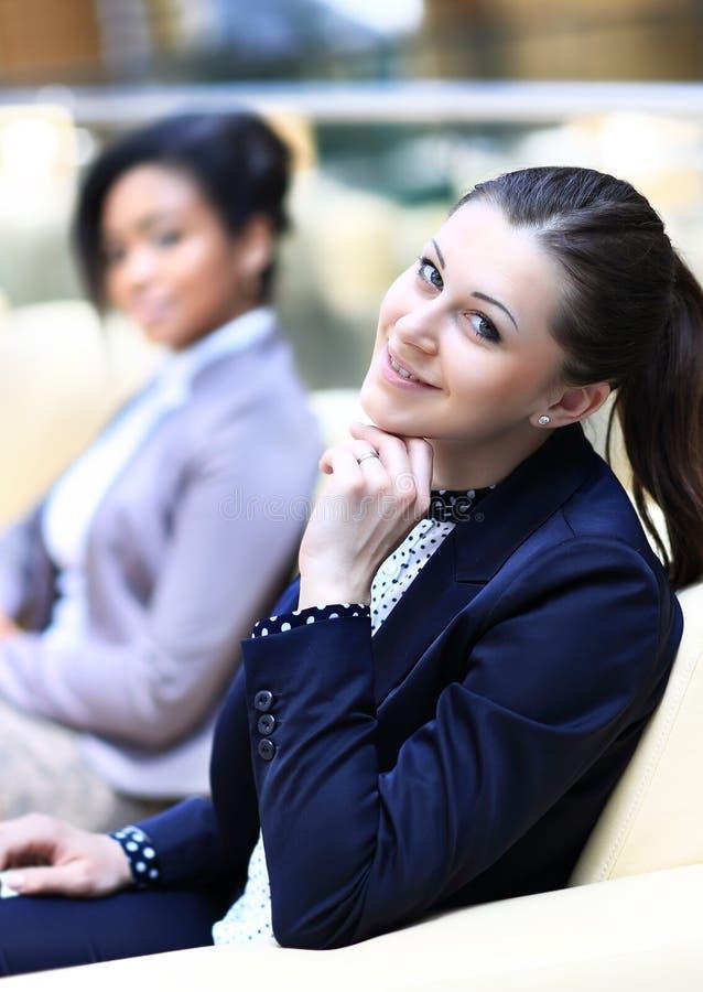 Download Businesswomen Sitting In Modern Office Stock Photo - Image: 39852622
