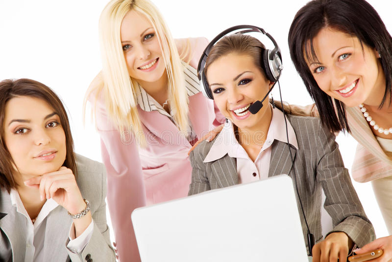 Businesswomen team smiling stock image