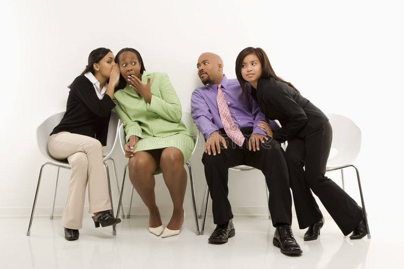 Download Businesswomen Whispering While Others Eavesdrop. Stock Image - Image: 2042583