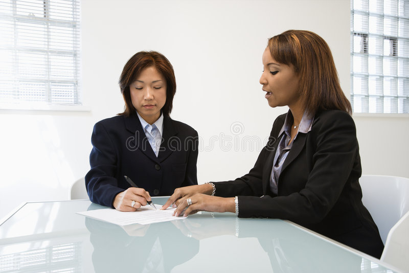 Download Businesswomen at work stock photo. Image of office, client - 4997078