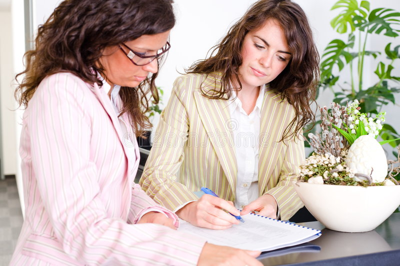 Businesswomen working together royalty free stock photos