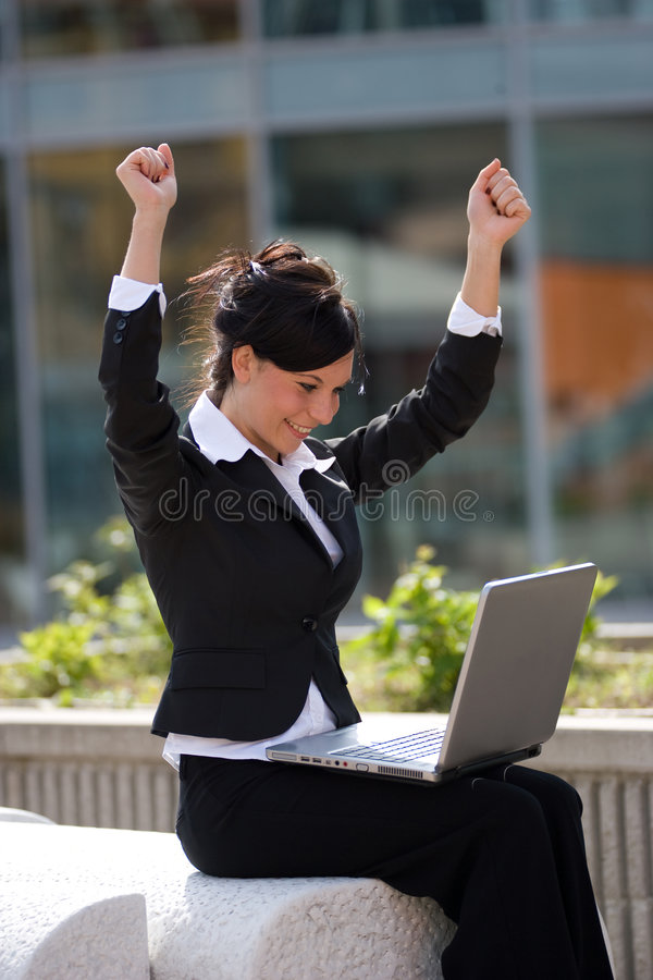 Busineswoman bem sucedido imagens de stock royalty free