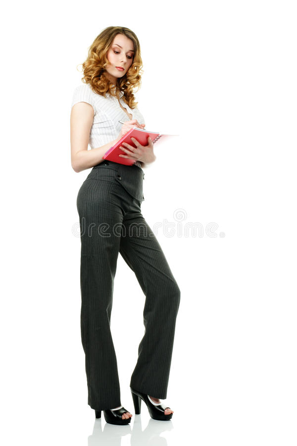Download Busineswoman and notepad stock image. Image of notebook - 17834029