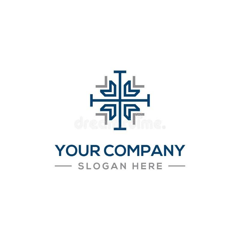 Businnes konsulterande logo för ditt företag stock illustrationer
