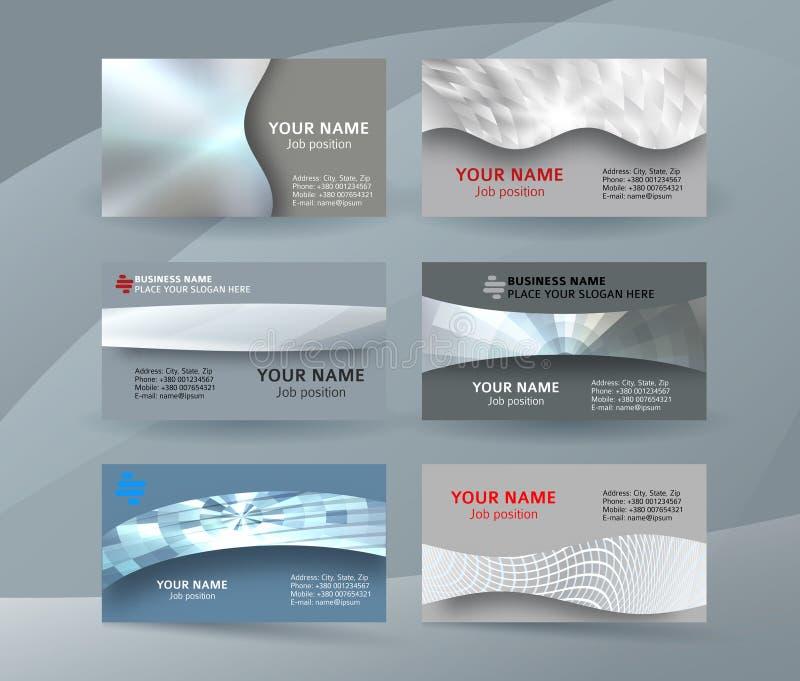 Businness card template horizontal banner background metal silver10 vector illustration