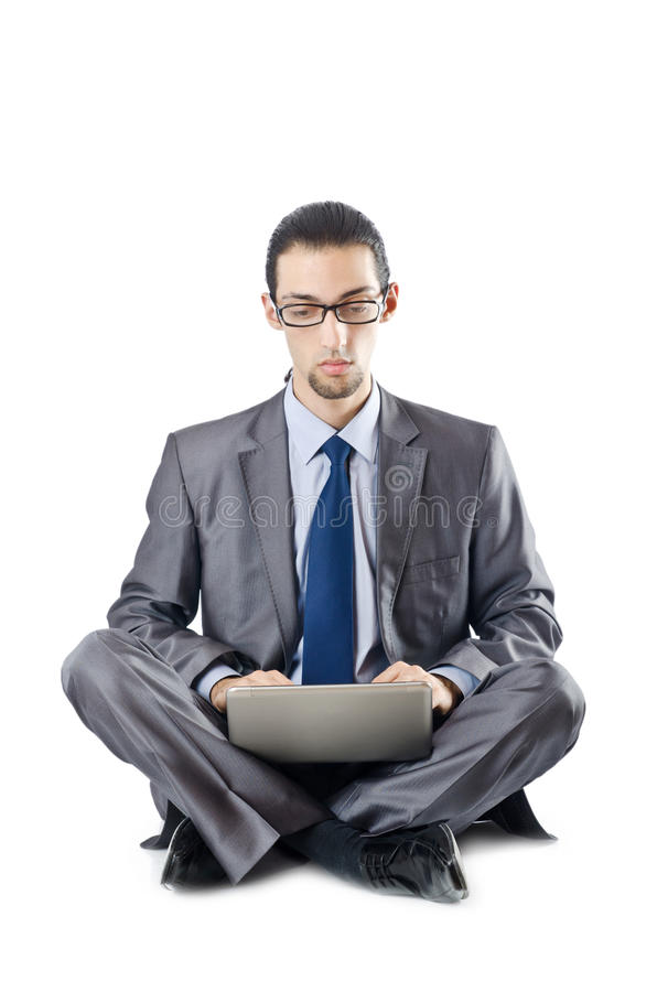 Download Busissman Working On The Laptop Stock Image - Image: 22652865