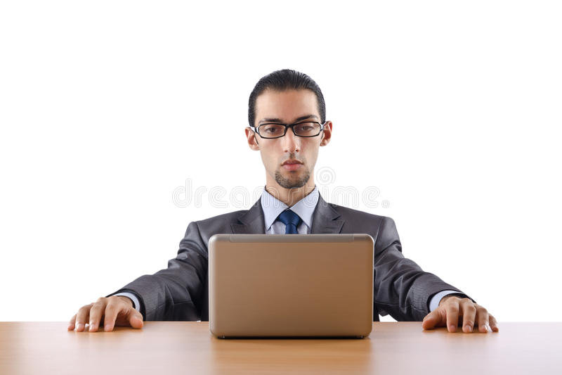 Busissman Working On The Laptop Royalty Free Stock Images