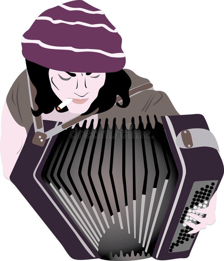 Busker - accordion