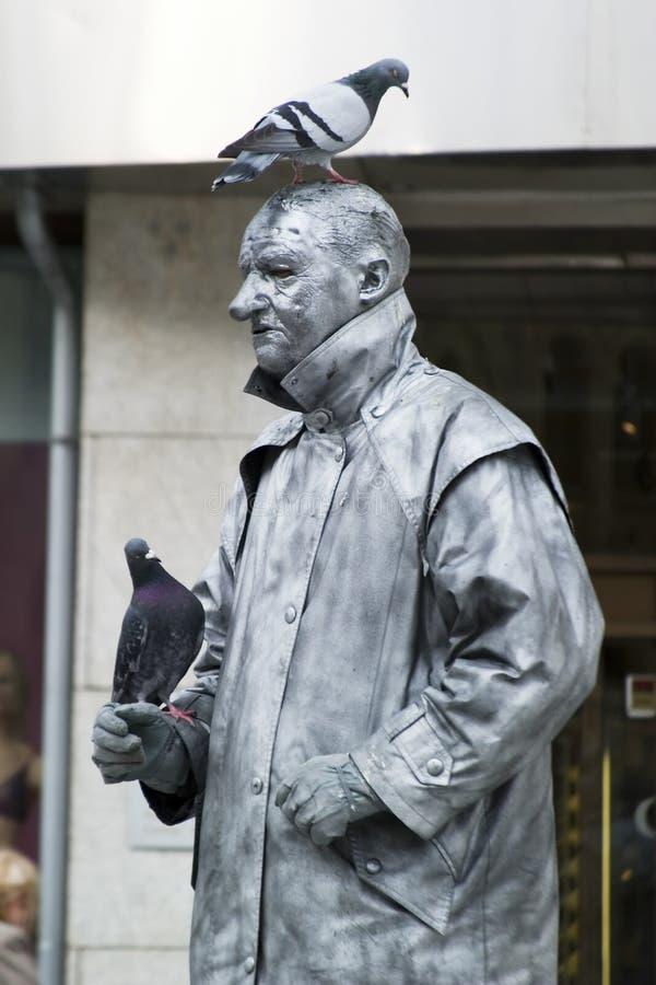 Busker de statue photos libres de droits