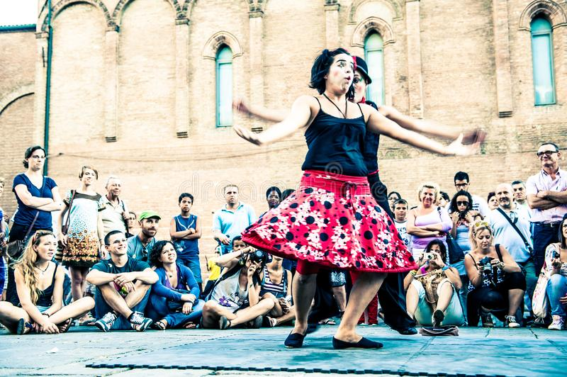 Buskers Festival is an international street artists event stock photo