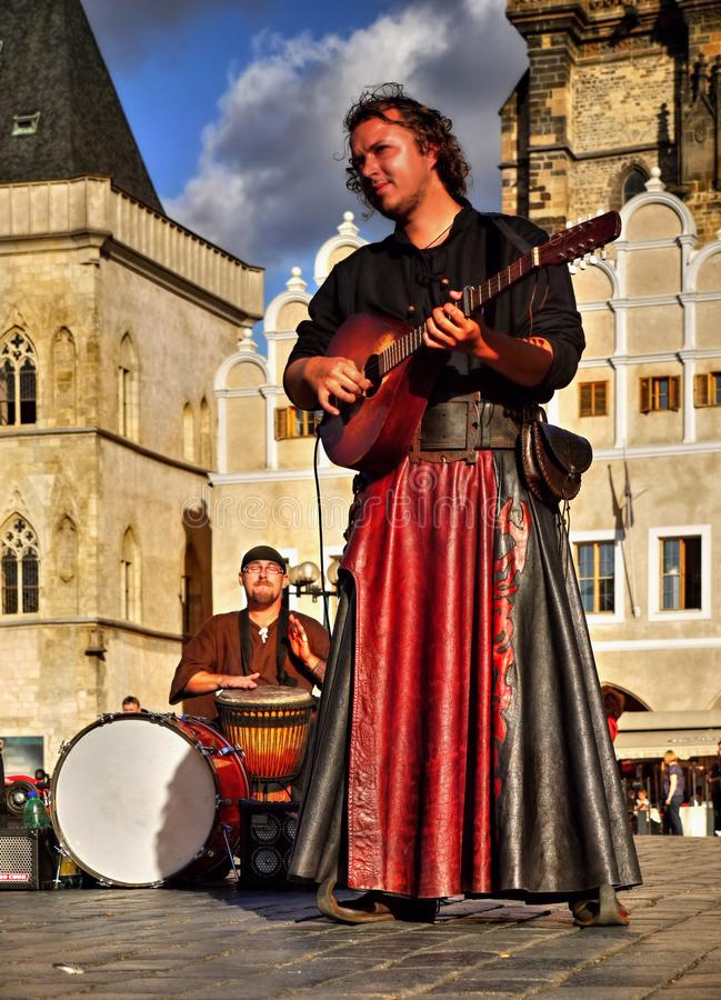 Buskers Prague Old Town, Czech Republic stock image